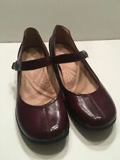 Naturalizer Dark Red Patent Size 6 M Women's Shoes Mary Janes New Low Vambra