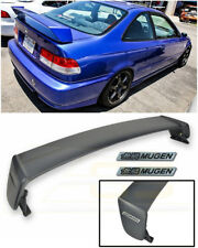 For 96-00 Honda Civic Coupe MUGEN Style Rear Trunk Wing Spoiler BK Emblem Pair