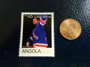 Wayne Gretzky New York Rangers NHL Angola 2000 RARE STAMP WOW