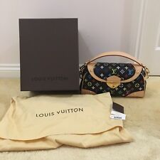 Louis Vuitton monogram multicolored Beverly MM black M40204 100% Authentic Bag