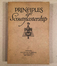 Orig 1936 PRINCIPLES OF SCOUTMASTERSHIP BSA Boy Scouts 258 Pages Soft Cover Book