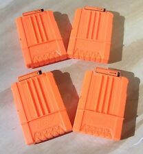 NERF 4 x 6 RND Mags, Clips  Orange Genuine Nerf Product.