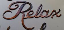 """""""Relax """"Metal Wall Art Accents"""