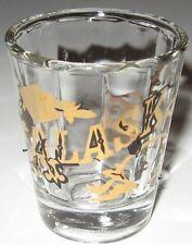 Alaska Shot Glass Arctic Frontier Moose Bear Gold Imprint Made in Taiwan