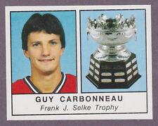1988-89 Panini Hockey NHL Sticker Guy Carbonneau #407 Canadiens Selke Trophy