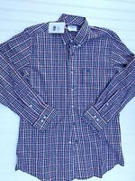 Heybo Long Sleeve Plaid Shirt Dress Casual Button Up Down Small NEW