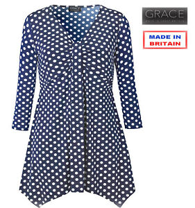 Grace Black Lace Sleeve Tunic UK Size 18 TD094 RR 03