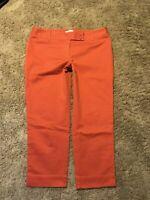 ANN TAYLOR LOFT MARISA CROPPED  PANTS Size 6 CROP Burnt Orange Salmon  E20