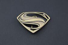 Gold superman boucle de ceinture texturé métal man of steel dc movie vs