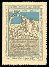Denmark Poster Stamp - Mændenes Hjem - Mission to Homeless Men - 1918