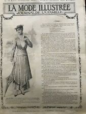 MODE ILLUSTREE SEWING PATTERN July 27,1915 - Dresses, blouses