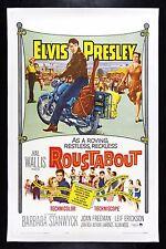 ROUSTABOUT ✯ CineMasterpieces ELVIS PRESLEY BIKER MOTORCYCLE MOVIE POSTER 1964