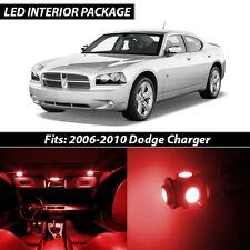 2006-2010 Dodge Charger Red Interior LED Lights Package Kit