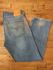 Used Levis Broken In 505 36x30 Blue Jeans Faded Distressed Old soiled stain