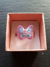 Brand new light pink butterfly childs ring size J.5! Childrens kids jewellery!