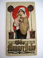 "Vintage 1916 Children's Book ""The Manger Babe"" Illus.by Margaret Evans Price *"