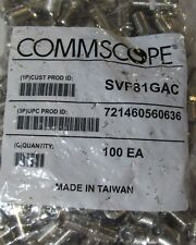 100 COMMSCOPE SVF81GAC F81 THREADED RG6 COAXIAL CABLE CONNECTOR BARREL SPLICE
