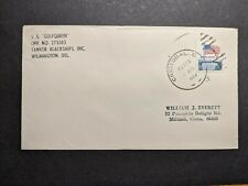 Tanker Blackships, Inc Ship SS GULFQUEEN Naval Cover 1974 CRISTOBAL, CANAL ZONE