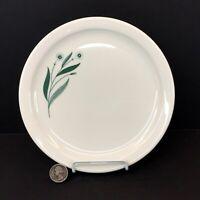 "Homer Laughlin Restaurant Ware-Green Flowers 8.25"" Dinner Plate floral"