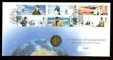 Great Britain - 2003 FDC -  Extreme Endeavour plus £1 Coin