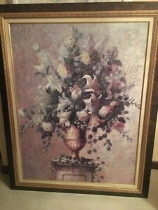Antique painting - Floral Reflection - by Barbara Mock 57 X 45