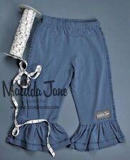 NWT Matilda Jane Character Counts Hudson Gray Ruffles sz 2 Girls Pants NEW