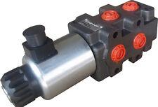 "hydraulic 6 port solenoid diverter/ selector valve 1/2"" BSP 12VDC 24gpm SVV-6/2"