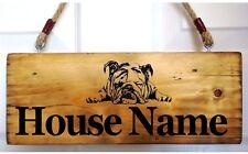 Signo de Bulldog francés Número De Casa Placa Placa de Nombre Personalizado Perro Frenchie Nuevo