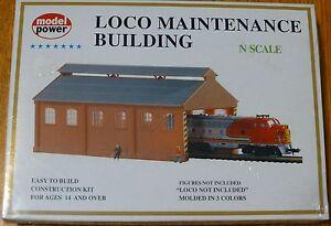 Model Power N #1516 Building Kit -- Locomotive Maintenance Building