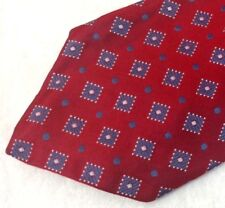Robert Talbott Nordtrom Best of Class Men's Red 100% Silk Tie Blue Diamond A069