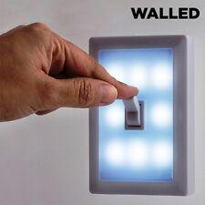 2 x WAND-LEUCHTE LED SCHALTER KABELLOS  BATTERIE-BETRIEB WAND-LAMPE