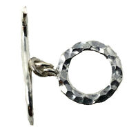 925 Sterling Silver Toggle Clasp Closer Hammered Necklace Bracelet Nepal CLS01