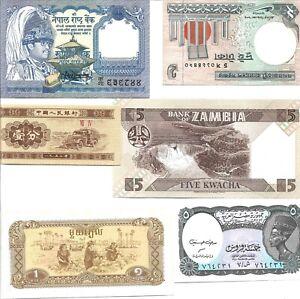 Set of 6 world notes