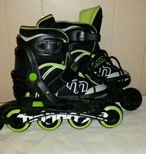 MonGoose InLine Blades-Skates Black/Green Youth Size 1-4 Adjust: 64Mm #Mg-091B-S