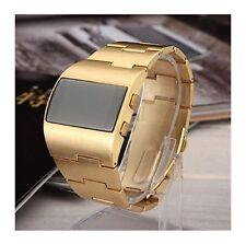 Mens LED Digital Watch Rare Gold Vintage 1970s Retro Style. Large.