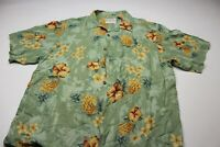 Thumbs Up Rayon Pineapple Floral Hawaiian CAMP SHIRT XL Extra Large
