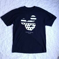 Disney NEFF Mens Black Mickey Mouse T-Shirt Size L Cotton Short Sleeve