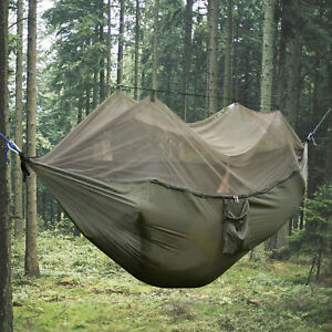 Double Person Outdoor Travel Camping Tent Hanging Hammock With Mosquito Net