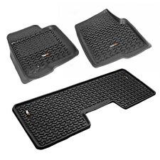 2009-2014 Ford F-150 Floor Mats Liner Kit Front & 2nd Row Rugged Ridge 82989.21