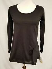 New LuLaRoe Lynnae Long Sleeve Shirt 2XS XXS black noir solid rare beautiful