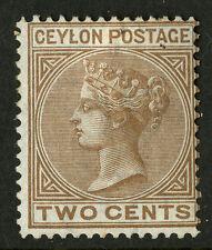 Ceylon   1872-80   Scott # 63    Mint Hinged