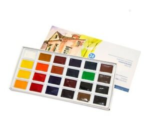 Watercolor Paints 24 colorus 2.5ml Palitra Paint Set Russia