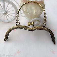 1PC 18.5cm Arc-shaped With Handle Metal Purse Bag Frame Kiss Clasp Lock