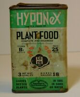 Old Vintage 1930s HYPONEX PLANT FOOD FLOWERS GRAPHIC SPICE TIN SIZE COPLEY OHIO