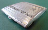 Zigarettenetui mit Gravur - 800er Silber - 88g - Art-Deko