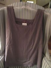 NWT!  PRODUCE 100%  COTTON SOLID COLOR BOXY TANK ON SMOKE GRAY . (L)