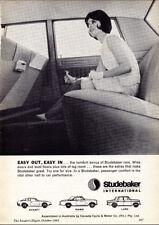"1963 STUDEBAKER AVANTI HAWK LARK AD A3 CANVAS PRINT POSTER FRAMED 16.5""x11.7"""