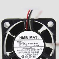 For NMB NMB-MAT 1606KL-01W-B49 5V 0.21A 40*40*15mm 3pin cooling fan
