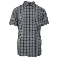 Quik Silver Men's Grey Everyday Check S/S Woven Shirt (Retail $44)