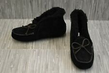 **UGG Alena 1004806 Moccasin Slippers, Women's Size 7, Black NEW
